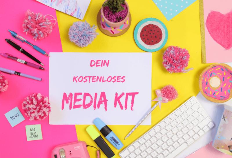 Blogger Media Kit mit kostenloser Vorlage und Template