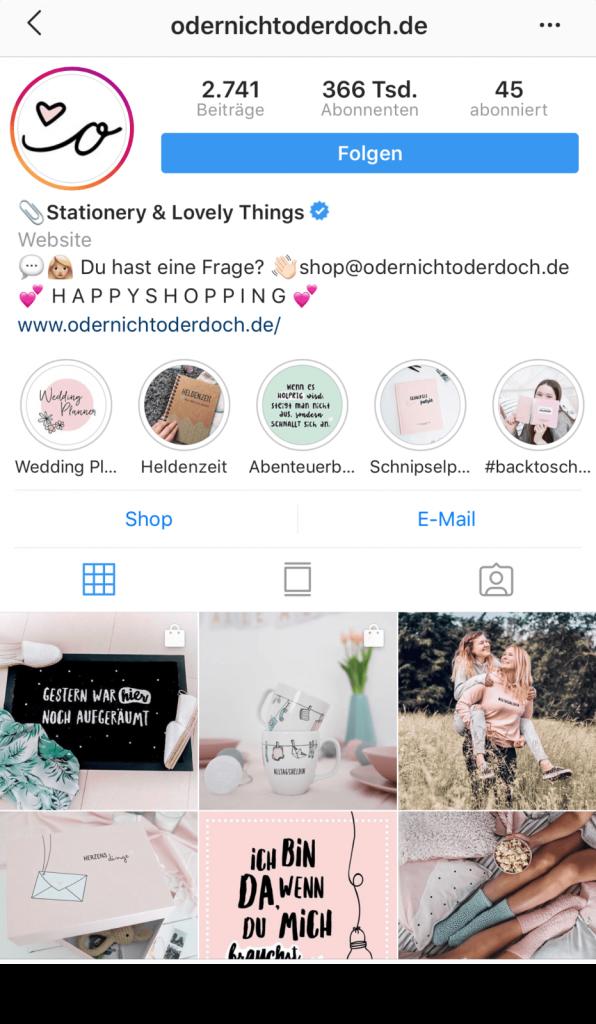 Beispiel Instagram als Unternehmen nutzen