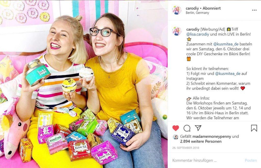 Mit Instagram Geld verdienen, z.B. im Rahmen von Kooperationen