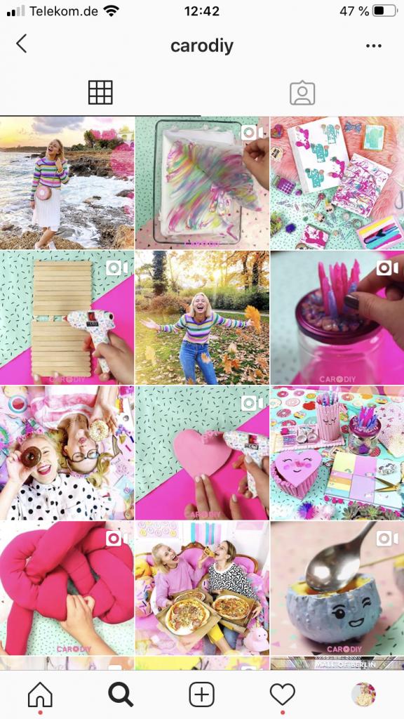 Verbesserter Instagram Feed von Caroline Preuss für bessere Fotos.