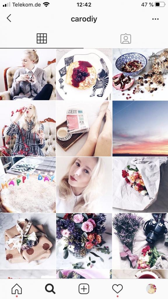 Instagram Feed von Caroline Preuss für bessere Fotos.