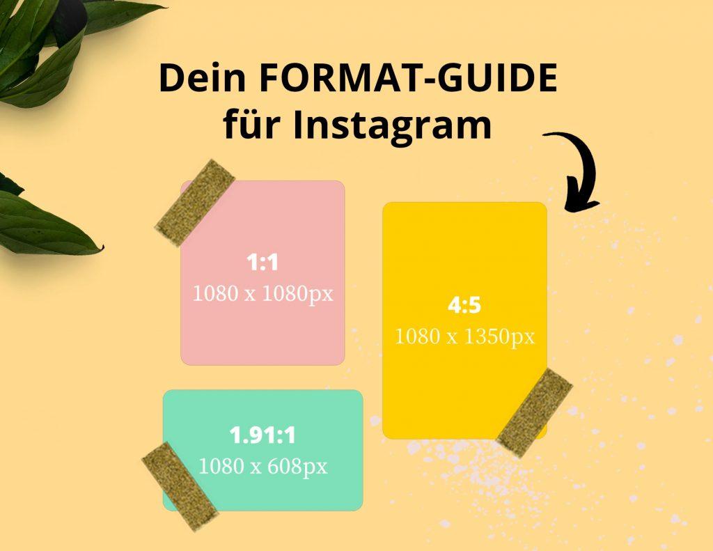Alle Formate für deine Instagram-Beiträge