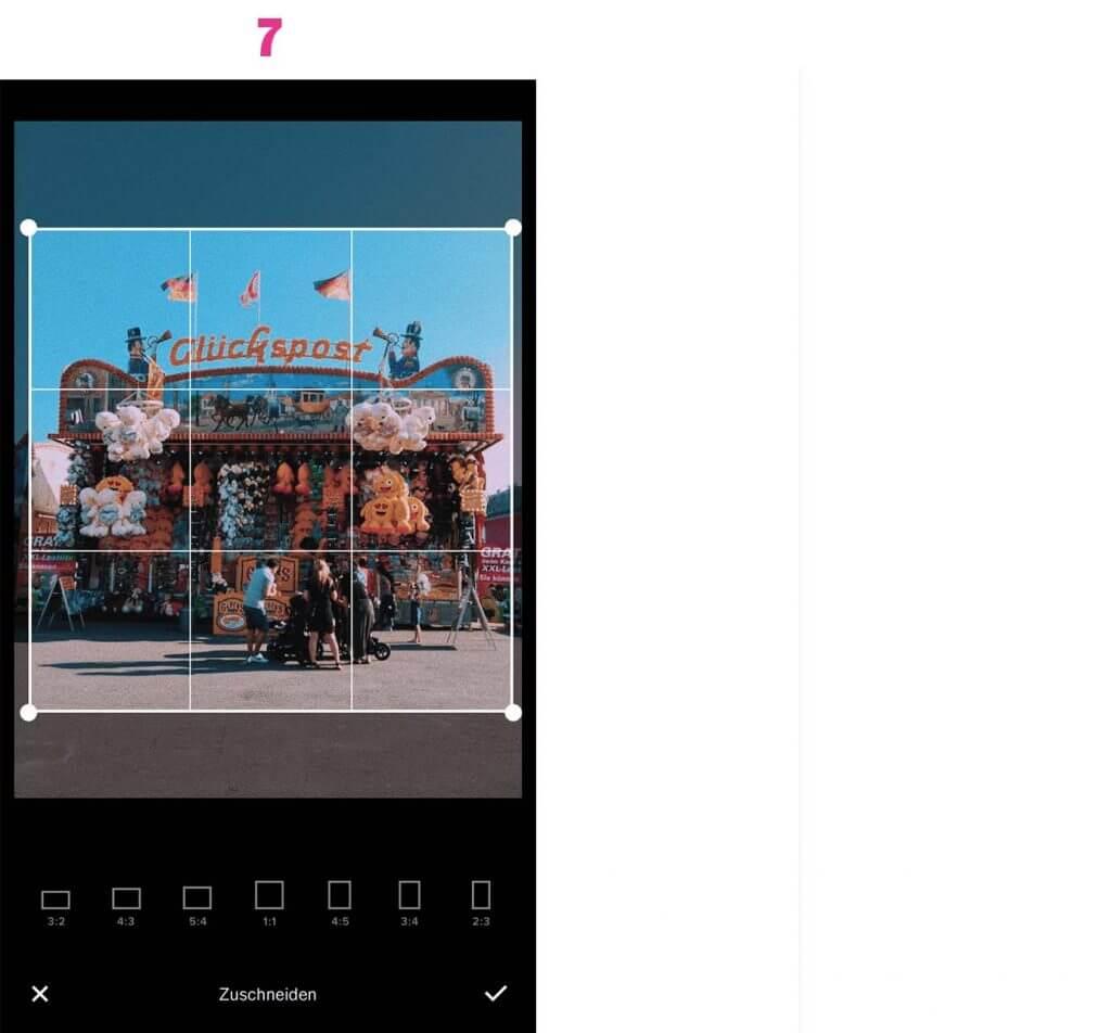 Instagram Bilder bearbeiten: Schritt 7 mit VSCO Bearbeitung