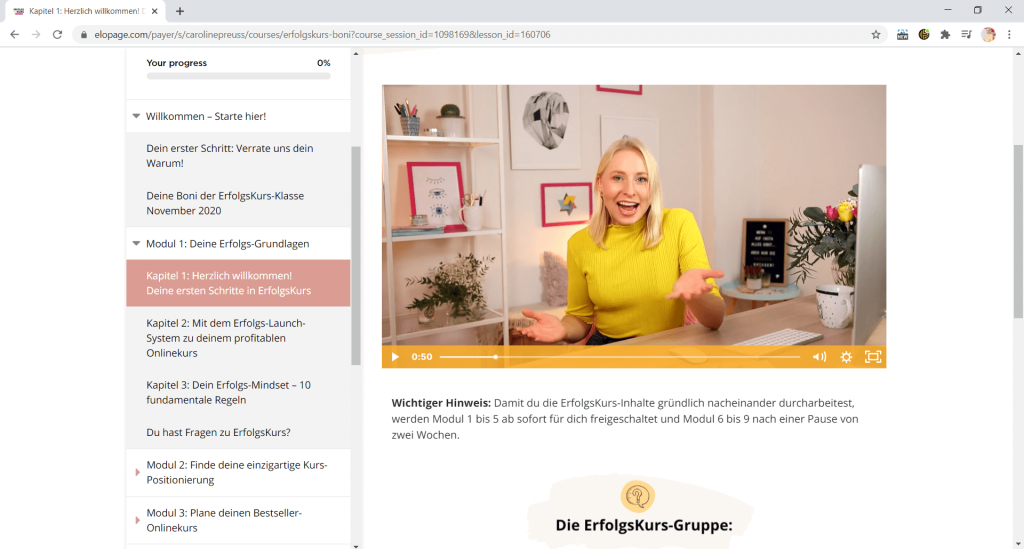 Elopage ist ein Onlinebusiness Tool für Onlinekurse
