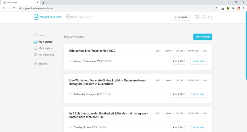 Webinarjam ist ein Onlinebusiness Tool für Webinare