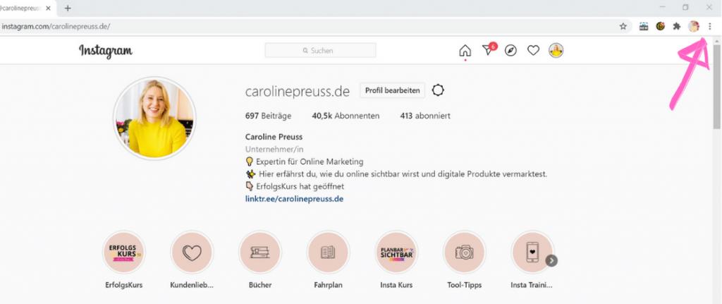 So nutzt du Instagram auf PC -Schritt 2