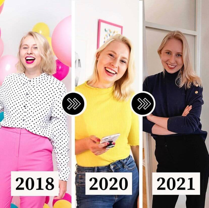 So könnte ein Transformationsbild aussehen, dass du in deinen Instagram Plan integrierst